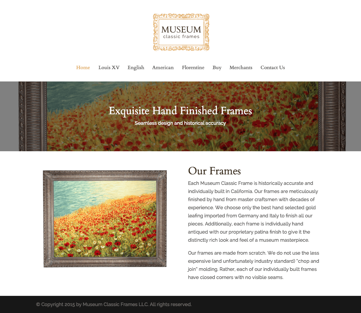 Museum Classic Frames Website