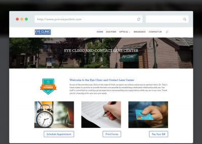 Provo Eye Clinic Website