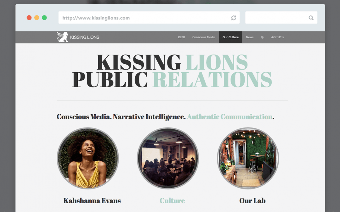 Kissing Lions PR Identity & Website